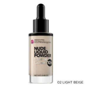 Base de maquillaje hipoalergénica Nude Liquid Powder 02 Light beige Bell Hypoallergenic