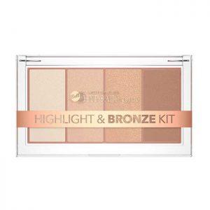 Paleta de iluminadores y bronceador  hipoalergénica Highlight&Bronze Bell Hypoallergenic