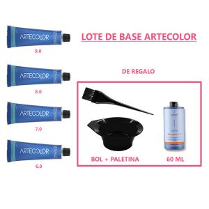 Lote Tintes Artecolor Base Profesional Cosmetic 60 ML